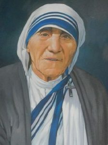 Extract from a portrait of Saint Teresa of Calcutta