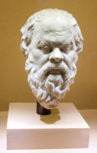 Bust of the philosopher Socrates.