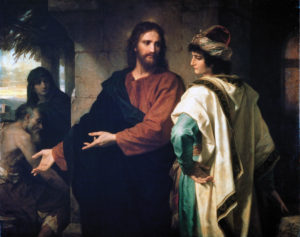 Painting, Jesus and the Rich Young Ruler, by Heinrich Hoffman.